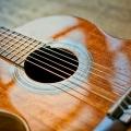 ギターを持って搭乗